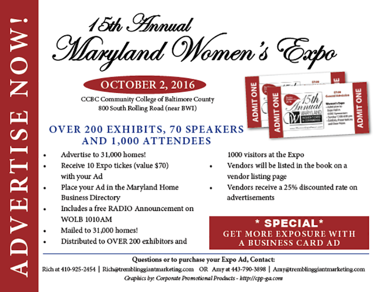 15th annual womens expo flyer