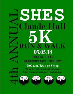 4th Annual Claude Hall 5K Run & Walk